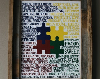 Autism Support Print (White Background) - Unframed