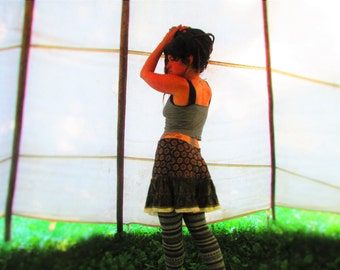 EarthSpin! Upcycled Skirt~ Pirate, Fairy, Renaissance