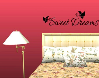 Wall Decal Quote Sweet Dreams Bedroom Wall Decor Inspirational Quotes Wall Decals Wall Sticker Wall Quote Decal (JR8)