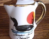 Minnesota Loon Camp Coffeepot Salt Shaker Souvenir