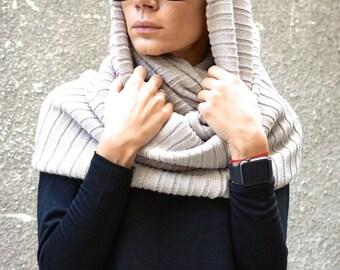 NEW Beige Extravagant Warm Shawl / All Knit Warm Extravagant Scarf by AAKASHA   A13108