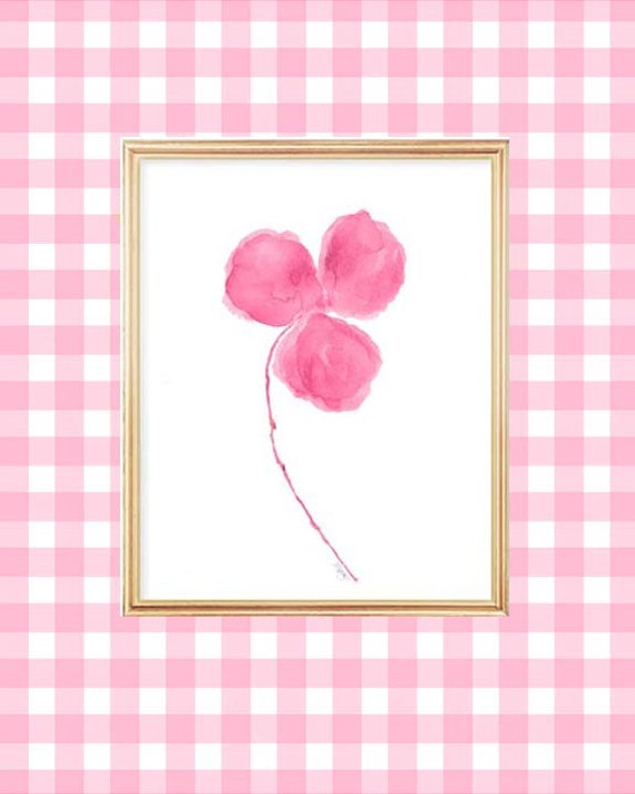 Hot Pink Watercolor Flower, 8x10 Orchid