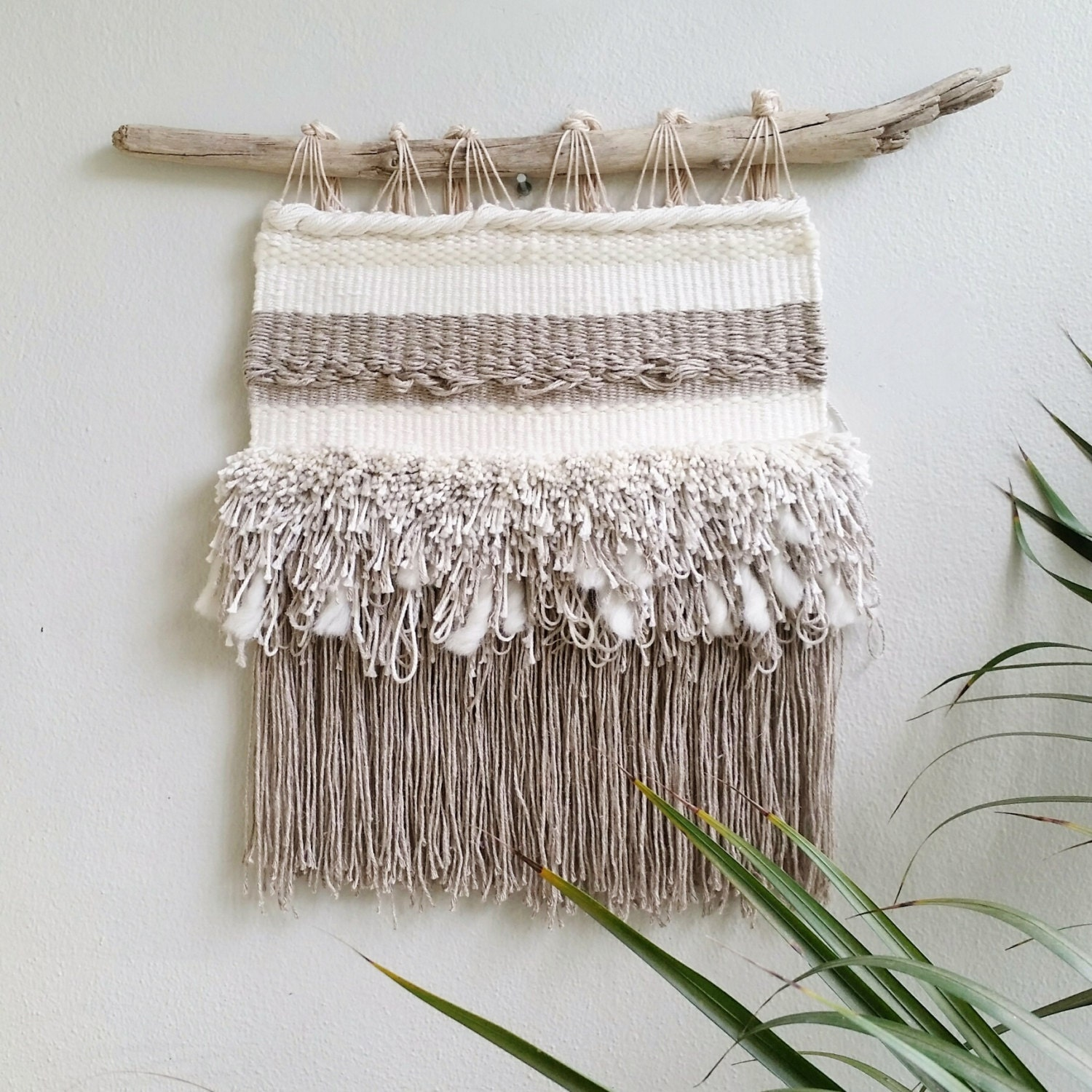 Woven wall hanging weaved wall fiber art wall tapestry on for Wall hanging
