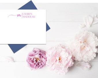 Personalized Stationery Set | Personalized Stationary | Monogram Stationary | Custom Stationary Set | Custom Note Cards