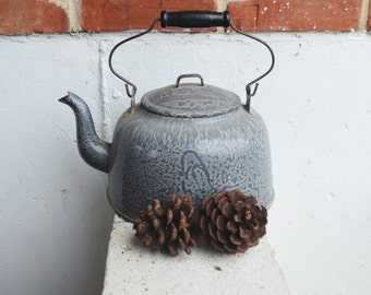 Antique/Campfire/Wood Kitchen Stove Graniteware Coffee Pot