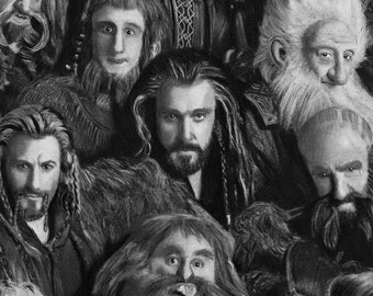 The Hobbit - Dwarves of The Lonely Mountain Lord of the Rings Original, ARCadence Art
