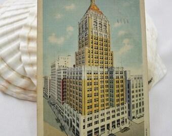 Philtower Building - Tulsa OK Vintage PostCard - Postmarked Tulsa OK - 1930s