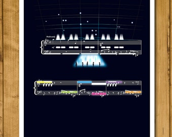 Theme from Close Encounters of the Third Kind by John Williams - Movie Classics Poster - Sheet Music Print - Soundtrack Art (Various Sizes)