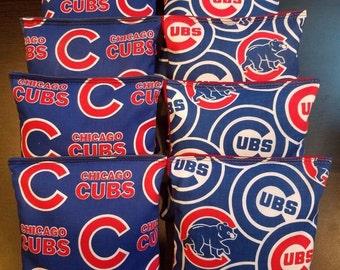 Chicago Cubs Cornhole Bean Bags 8 ACA Regulation  Corn Hole Bags MLB Fans Great Gift Idea