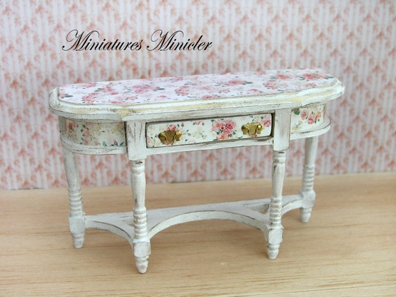 miniature dollhouse sideboard shabby chic style. Black Bedroom Furniture Sets. Home Design Ideas