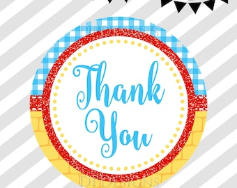 Wizard of Oz Thank You Tags - Instant Download