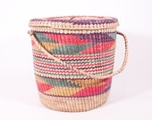 Large Colorful Woven Tribal Basket