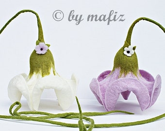 2xbloom in white and pearl decoration for home flowers for hanging window for Mother's Birthday
