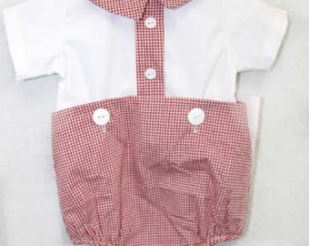 292279 -   Vintage inspired Baby Boy Bubble - Baby Clothes - Baby Boy Clothing - Baby Bubble Romper - Newborn Romper - Baby Boy Jon Jon
