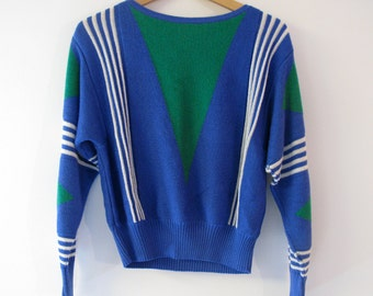 Vibrant sweater by Vivanti from the 70's or 80's