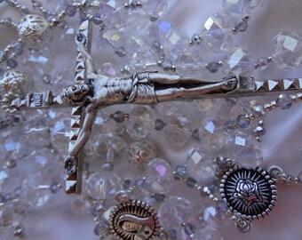 Silver Swarovski Crystal Wedding Lazo/Lasso