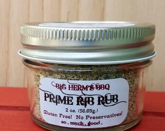 Prime Rib Rub by Big Herm's BBQ, barbeque, hostess gifting, smoker, grill, traeger, christmas dinner, bbq rub, big green egg