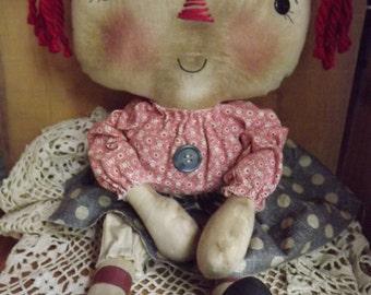 Primitive Rag Doll Raggedy Doll Primitive Home Decor