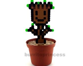 Plant - 8 Bit Plant - Pixel Plant - Artificial Flower - Waterless Plant - Desk Plant - Nerdy Decor - Nerdy Decoration