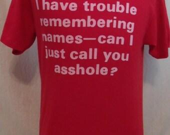 Vintage 80s Novelty Humor  TShirt size L