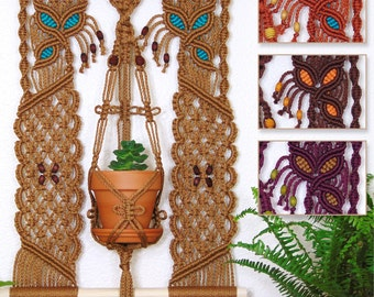 Macrame Wall Hanging Planter Small Pot Holder Wall Plant Hanger Air Plant Succulent