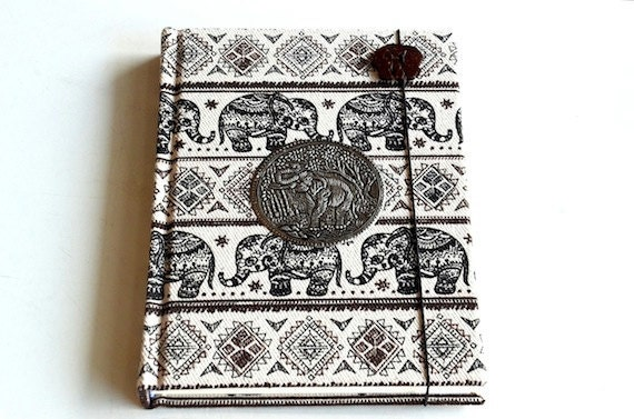 Fabric Covered Notebook with Blank Pages Travel Memory Book Daily Planner Writing Journal Boho Personalized Diary Hardcover Sketchbook BK6