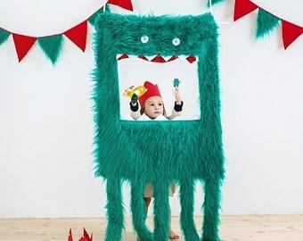 """Waldorf style, fur doorway puppet theatre """"The Monster Octopus"""""""