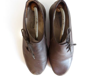 VINTAGE leather classic derby shoes size US 11