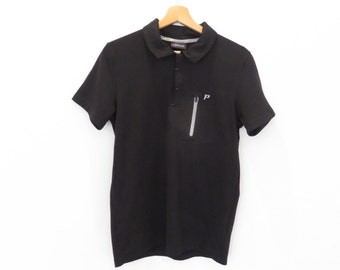 PEAK PERFORMANCE Black Sport Polo Shirt Designed in Sweden, sz. M