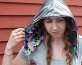 Festival hood - Reversible with interchangeable chain - 8-bit Astronaut
