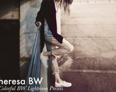 Theresa BW - 5 Lightroom RAW&JPG Presets Pack Instant Download