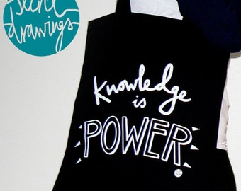 Knowledge is Power Canvas Tote Bag