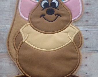 Cinderella Mouse Patch ~ Gus Gus Embroidered Applique ~ Iron On ~ Easy
