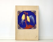 Vintage Tropical Bird Painting c. 1920s-1930s Elmo Milton Anderson New York 11 3/4 x 17 3/4 inches