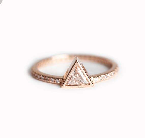 0 3 carat trillion ring triangle ring by
