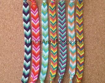 Friendship bracelets chevron colors