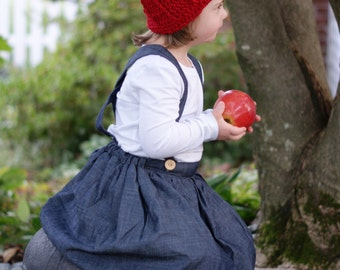 Red Pixie Hat for Children. With or Without Tassel. Toddlers & Children Sizes