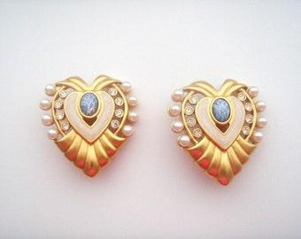 Elizabeth Taylor Clip Earrings - Heart of Hollywood  - S1725