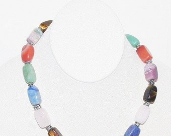 Natural Gemstone Necklace - Multi Gemstones - S2353