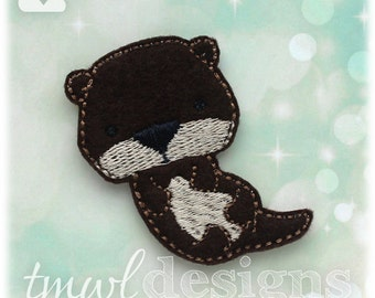 Sea Otter Feltie Digital Design File - 1.75""