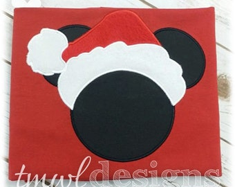 Mr Christmas Mouse Appliqué Digital Design File - 5x7