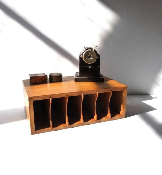 Wooden Desk Organizer File Organizer Wooden Desk Decor Desk