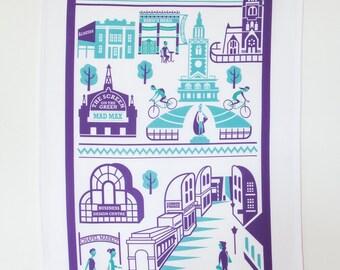 Islington tea towel / London illustration