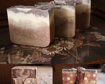 Cinnamon Bun Handmade Soap, Cold Process Soap, Hostess Gift, Vegan Soap, Homemade Soap, Gift Soap