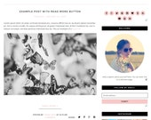 Premade Blogger Template - Instant Download - Hello - Blogger Template - blogger theme - blog design - blogger blog template