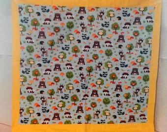 Woodland animal, Retro style baby blanket