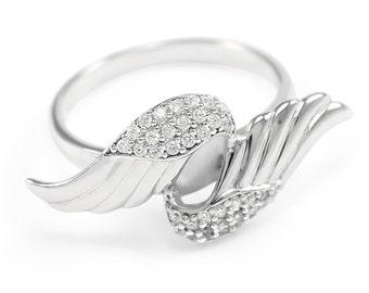 Silver Angel Wings Ring // Angel Accessories // Jewelry and Accessories // Wings // Rings // Cute Jewelry // Cute Rings // Silver rings
