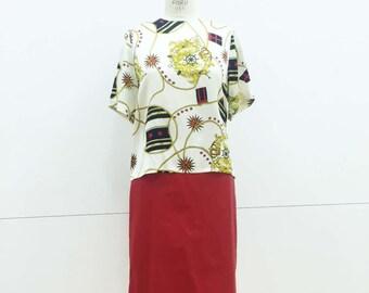 Vintage Silk Nautical Blouse