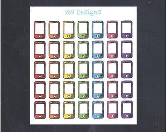 Cell Phone Icon || Stickers for Life Planner