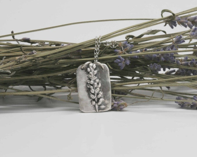 Fine Silver Flower Pendant - Made from actual Plantain Flower